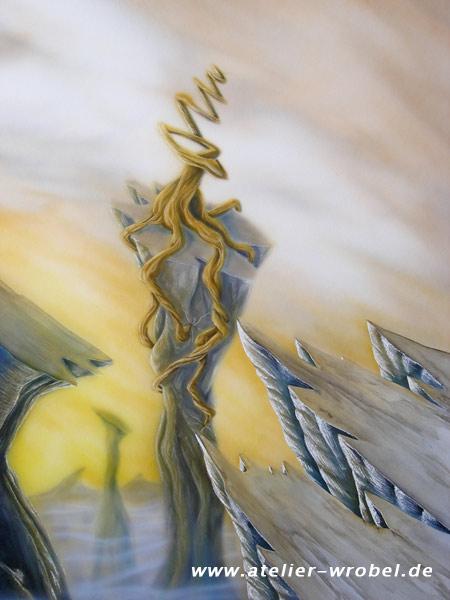 Landschaft, Baum, Acrylmalerei, Surreal, Malerei, Pflanzen