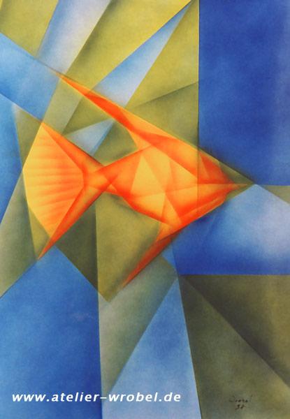 bild kubismus kubistisch airbrush malerei von oliver wrobel bei kunstnet. Black Bedroom Furniture Sets. Home Design Ideas