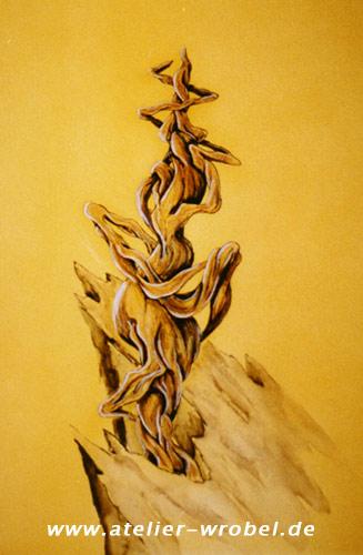 Acrylmalerei, Baum, Airbr, Malerei, Pflanzen