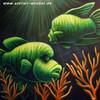 Acrylmalerei, Meer, Fisch, Airbrush