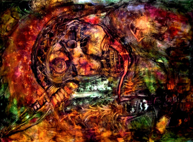 Malerei, Abstrakt, Terror, Extrem