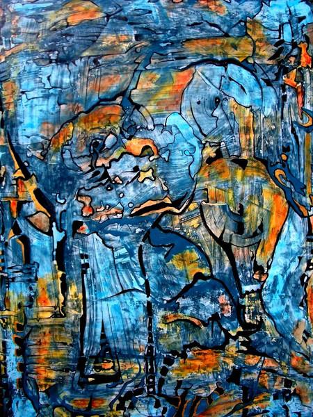 Malerei, Abstrakt, Fragment