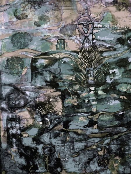 Dunkel, Botschaft, Unterstützung, Unfall, Malerei