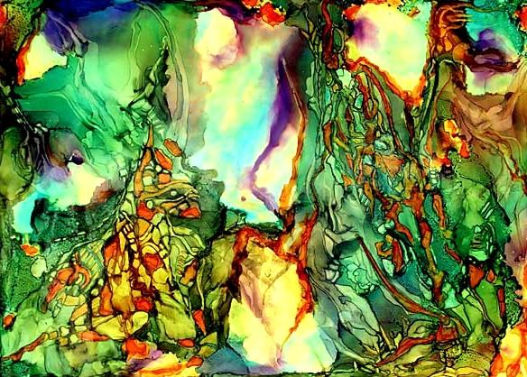 Malerei, Abstrakt, Born