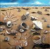 Muschel, Strand, Meer, Ölmalerei