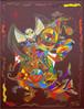 Schamane, Acrylmalerei, Malerei, Abstrakt