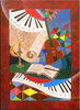 Acrylmalerei, Mondschein, Sonate, Malerei