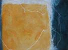 Orangeblauweiss, Malerei, Malerei abstrakt 2010