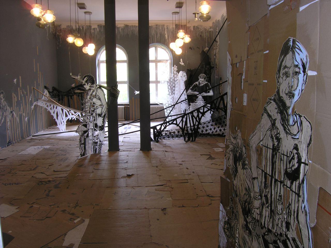 bild ausstellungen impressionen von kunstraum kreuzberg bethanien bei kunstnet. Black Bedroom Furniture Sets. Home Design Ideas