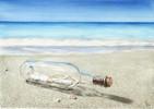 Meer, Strand, Glas, Flasche