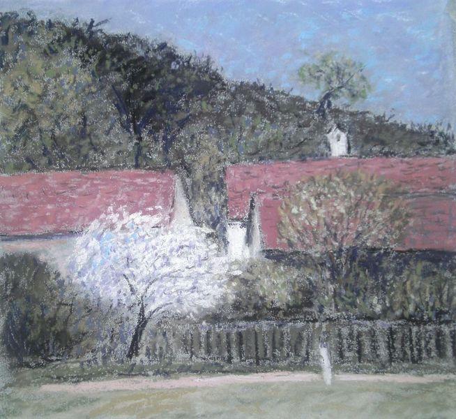 Regensburg, Mühle, Frühling, Malerei