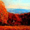 Wald, Berge, Himmel, Herbst