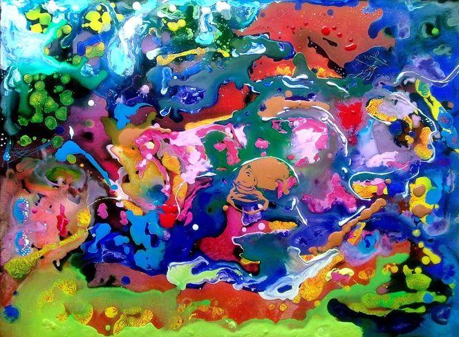 Menstruation integration, Malerei, Abstrakt