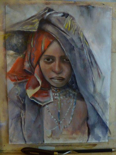 Afrika, Portrait, Malerei