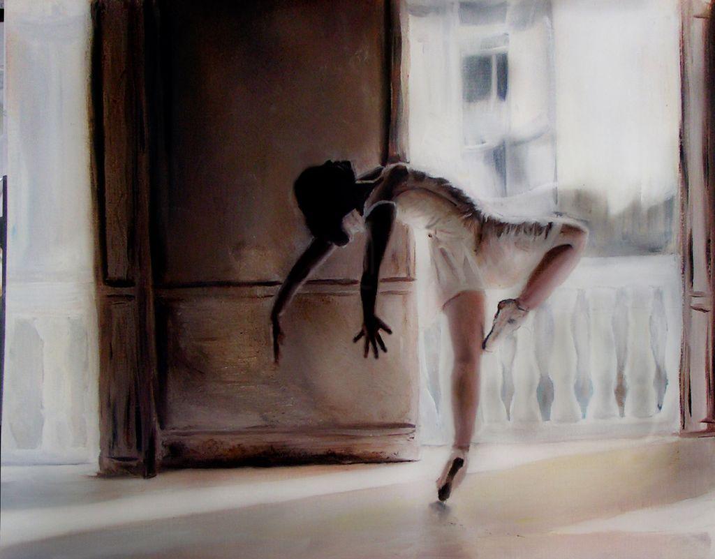 Ballett - Gemälde, Ölmalerei, Ballett, Malerei von Johndell bei KunstNet