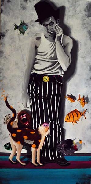 Malerei, Surreal, Zoo