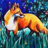 Fuchs, Zauberwald, Wald, Malerei