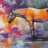 Pony, Pferde, Pastellmalerei, Malerei