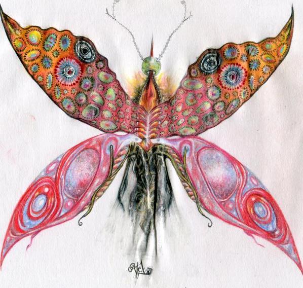 Schmetterfant, Schmetterling, Absurd, Malerei