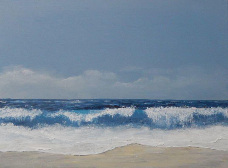 Küste, Ruhe, Wasser, Sand, Entspannung, Brandung