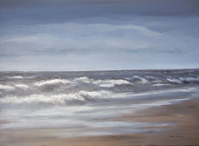 Urlaub, Meer, Acrylmalerei, Insel, Ruhe, Nordsee