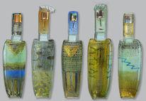 Düster, Glasskulpturen, Gold, Goldglas