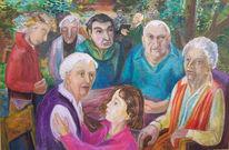 Fest, Sommer, Senioren, Malerei