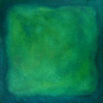 Farbfeldmalerei, Malerei, Farbfeld malerei, Türkis