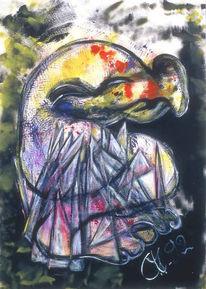 Expressionismus, Seelisch, Seelenschmerz, Acrylmalerei