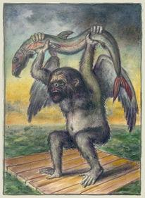 Affe, Schiffbruch, Alegorie, Tiere