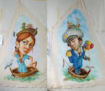Menschen, Klischee, Bootmann, Bootfrau2