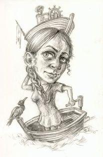 Mensch wasser, Bootfrau2, Täuschen, Trügerisch