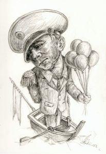 Trügerisch, Bootmann, Täuschen, Zeichnungen