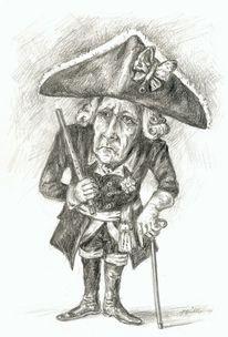 Friedrich der große, Karikatur, Friedrich der ii, Figur