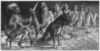 Berlin, Zeichnung, Figur, Hund