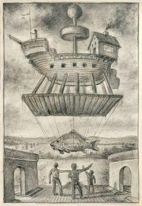 Himmelsstürmer, Flieger, Boot figur zeichnung, Zeichnungen
