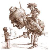 Windmühle, Don quichotte, Reiter, Zeichnungen