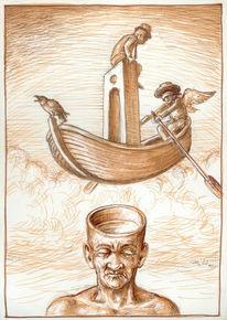 Boot figur zeichnung, Zeichnungen, Surreal, Boot