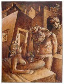 Märchen, Zeichnung, Erotik, Zimmer