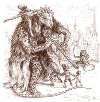 Söldner, Alegorie, Figur, Tiere