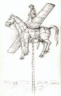 Lebensfreude, Pferde, Haus, Trojanisches pferd