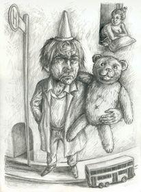 Teddy, Kindheit, Alltag, Großer junge