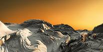 Orange, Wüste, Digitale kunst,