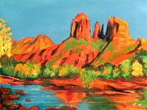 Plein air, Pastellmalerei, Arizona, Kathedrale