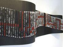 Schwarz, Installation, Wandobjekt, Rauminstallation