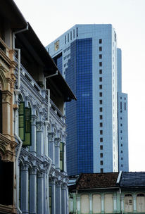 Alt, Hochhaus, Häuser, Singapur