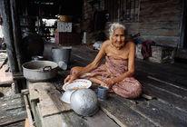 Hütte, Thailand, Frau, Alt