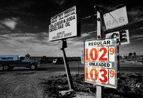 Arizona, Straße, Schwarzweiß, Auto