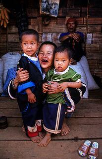 Vater, Kinder, Familie, Thailand