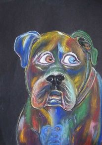 Hund, Bunter hund, Berlin, Zeichnungen